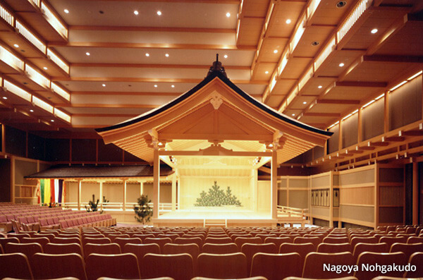 A guest lecture at an international academic conference at Nagoya Noh Theater