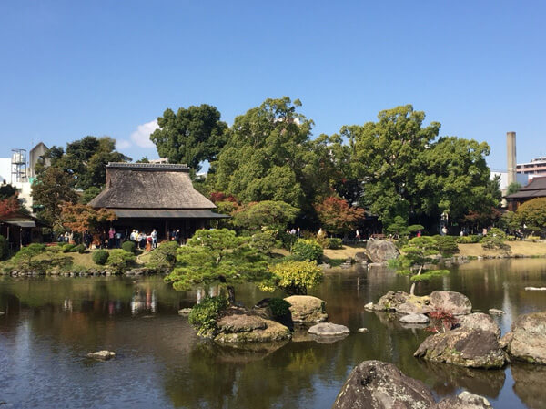 A party at Suizenji Jojuen Garden